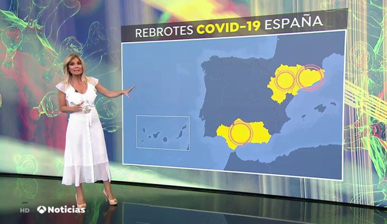 Los rebrotes de coronavirus en Andalucía, Cataluña y Aragón preocupan a Sanidad