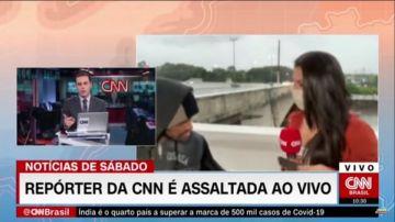 Una reportera de la CNN es asaltada en directo
