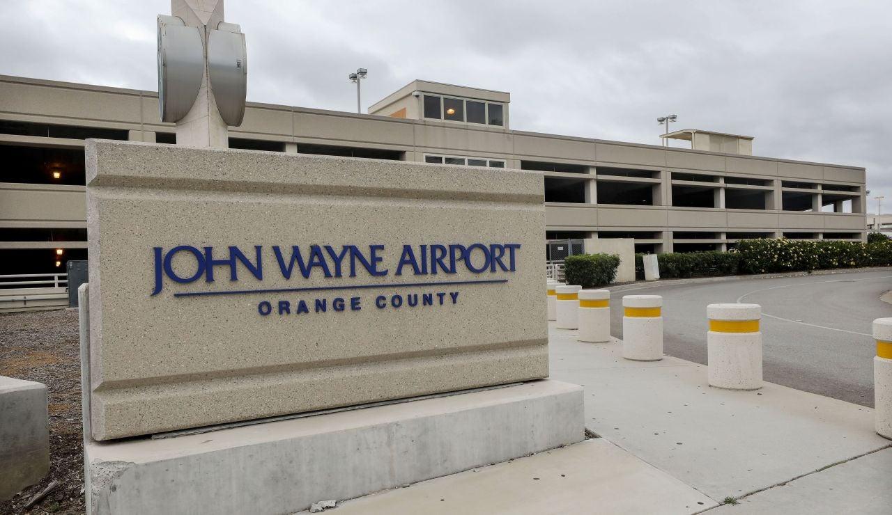 El aeropuerto John Wayne en Santa Ana, California