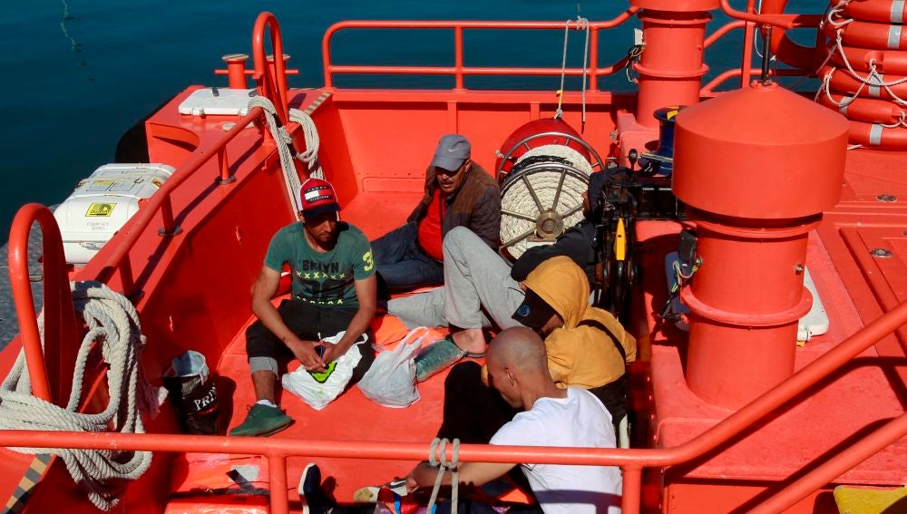 Rescate el pasado 21 de junio de cinco varones magrebíes