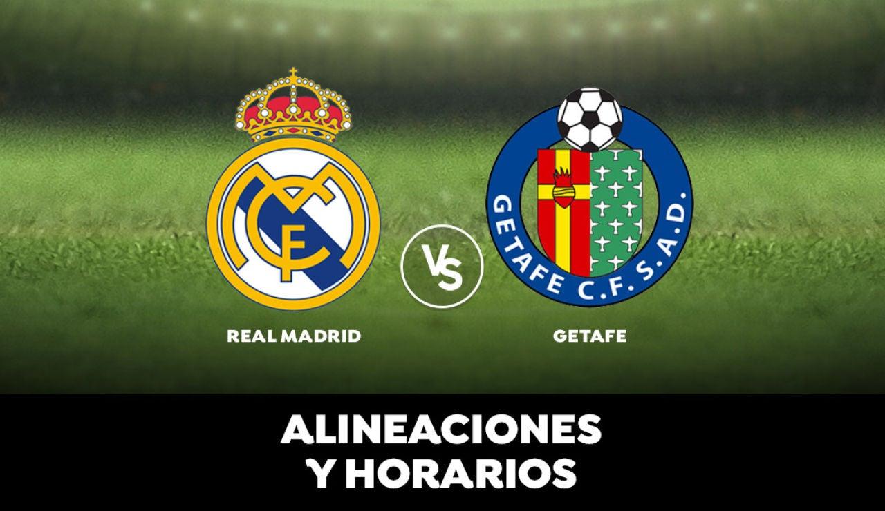 Real Madrid - Getafe: Horario, alineaciones y dónde ver el partido en directo | Liga Santander