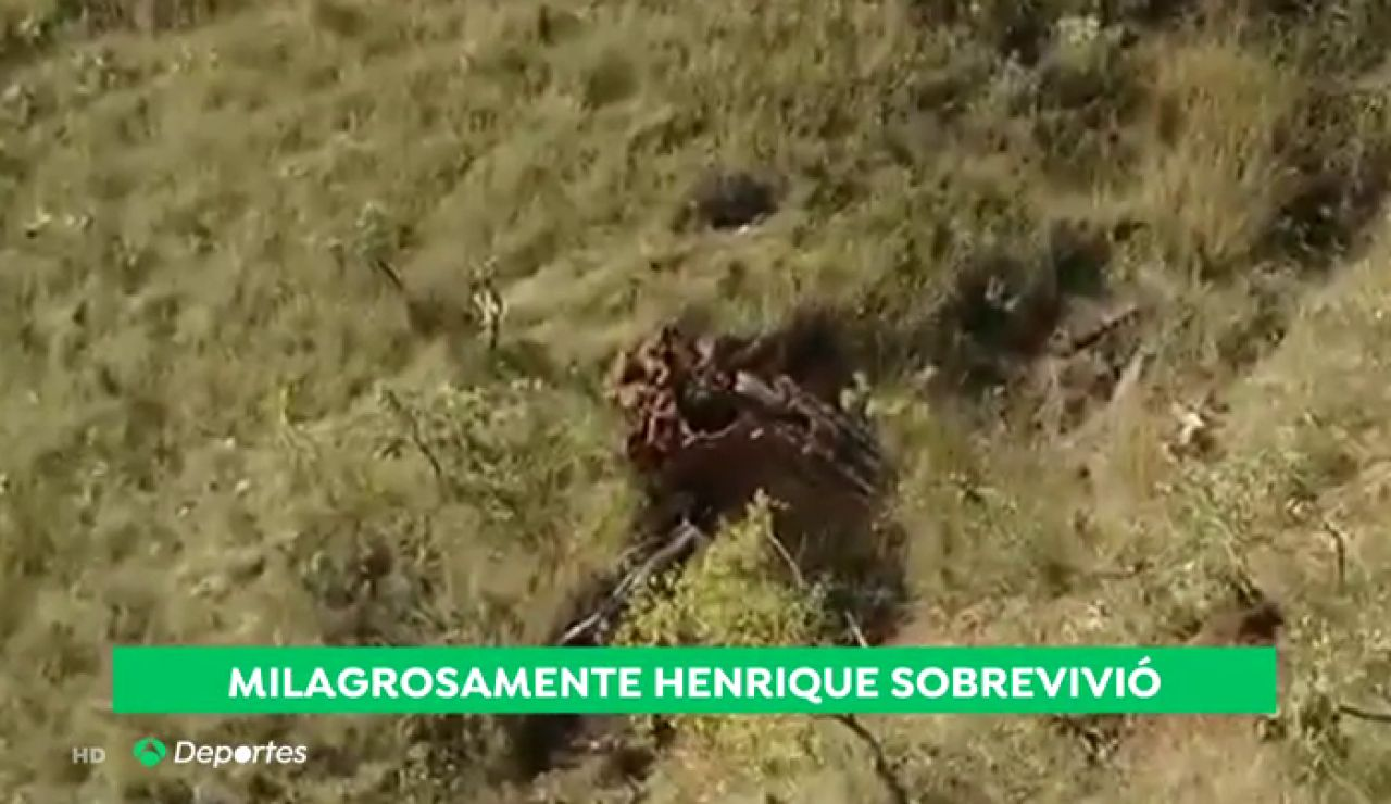 Hernique Pacheco Lima, futbolista del Cruzeiro, sobrevive tras caer por una barranco de 200 metros con su coche