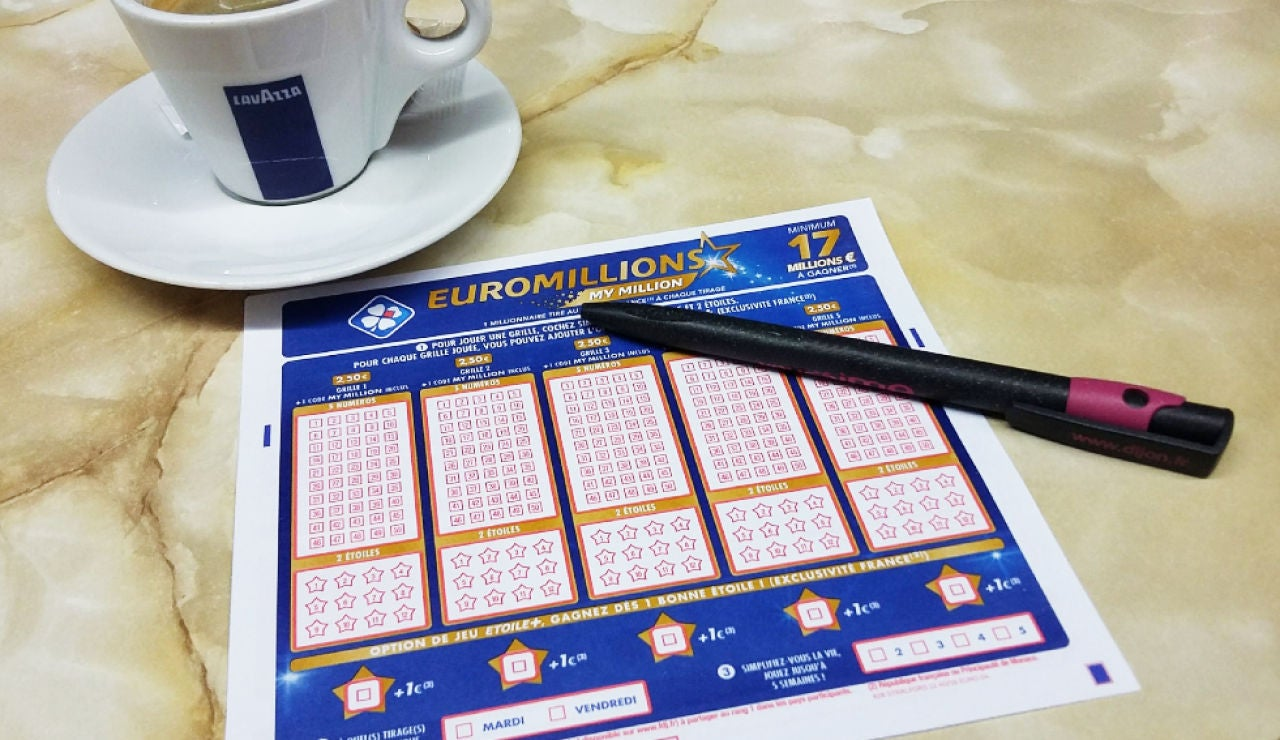 Imagen de archivo de un boleto de Euromillones