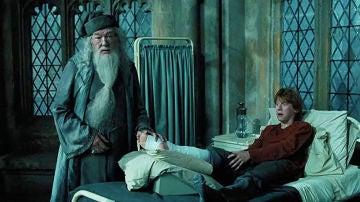 Dumbledore y Ron, mano a mano