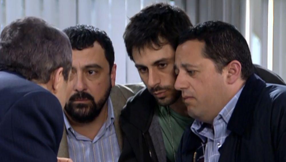 Don Lorenzo, Paco Lucas y Mariano en 'Los Hombres de Paco'