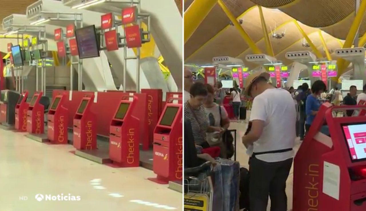 Normalidad y poco movimiento en los aeropuertos españoles durante la operación salida del verano