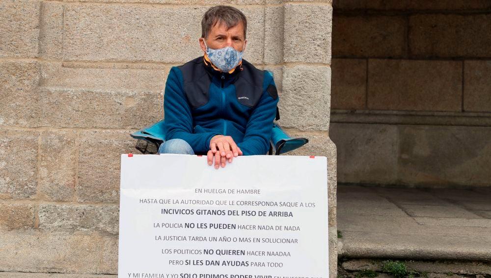 El hombre que ha iniciado la huelga de hambre en Lugo
