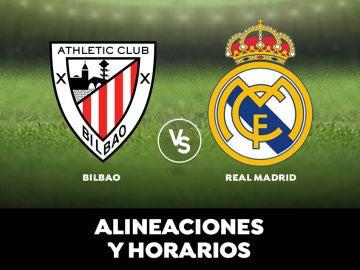 Athletic de Bilbao - Real Madrid: Horario, alineaciones y dónde ver el partido en directo | Liga Santander