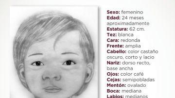 Retrato de la niña encontrada muerta en México