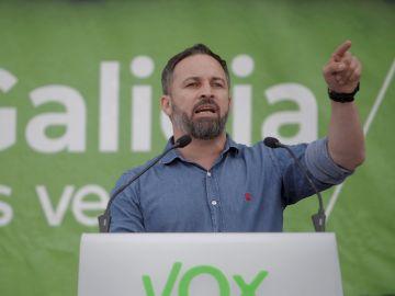 Santiago Abascal en el acto de campaña de las elecciones gallegas 2020