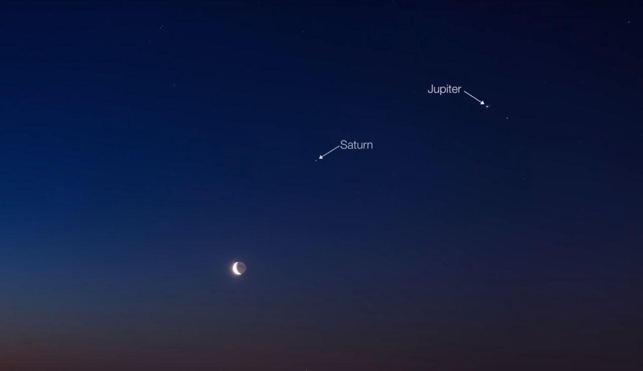 La NASA informa que esta madrugada habrá una alineación de planetas