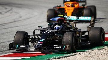 Valtteri Bottas, durante el GP de Austria