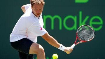 El tenista Robin Söderling, durante un partido