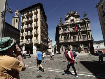 El no-Chupinazo de San Fermín 2020 en Pamplona, streaming en directo