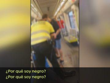 Agresión en el metro