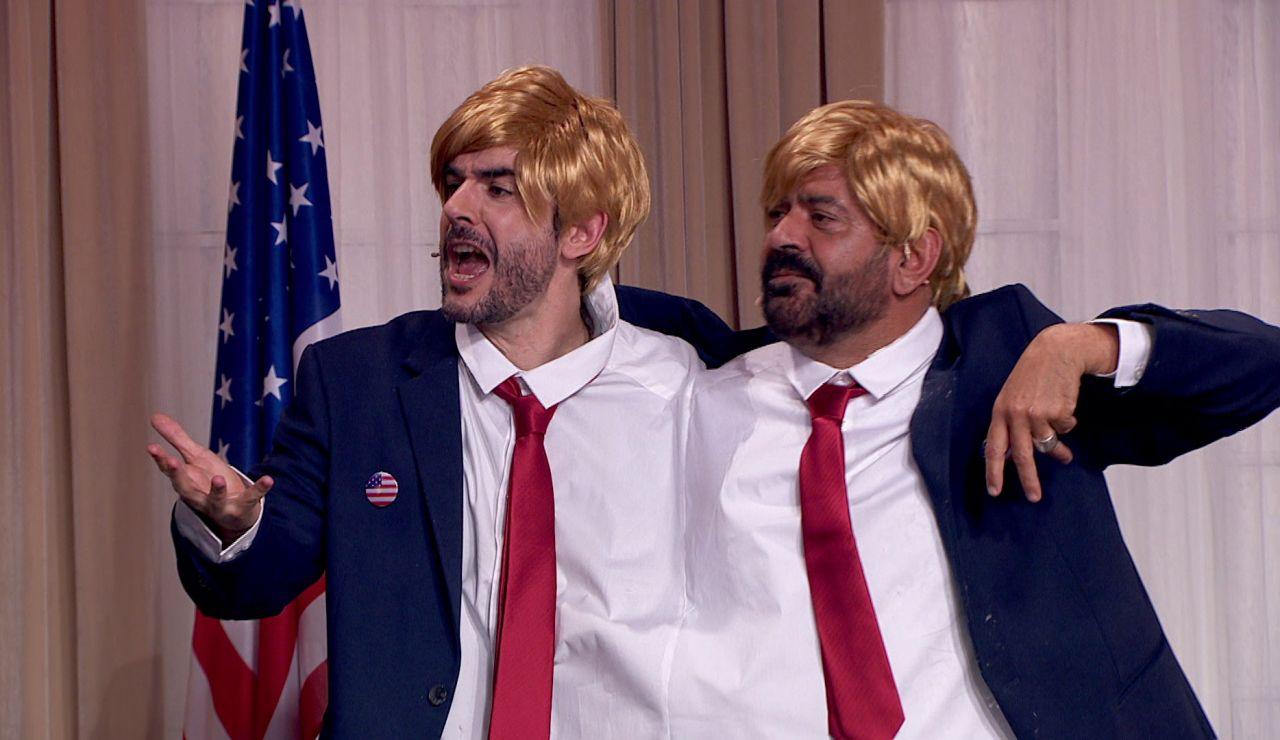 Juanra Bonet y José Corbacho cantan una saeta interpretando a Donald Trump
