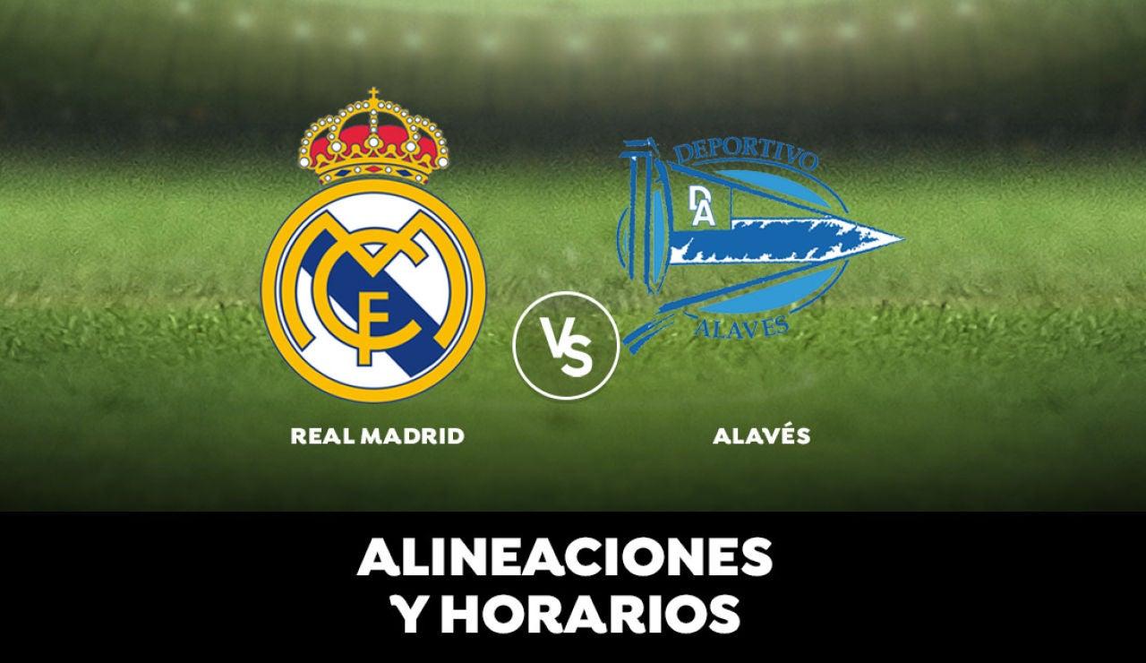 Real Madrid - Alavés: Alineación del Real Madrid, horario y dónde ver el partido de la Liga hoy en directo