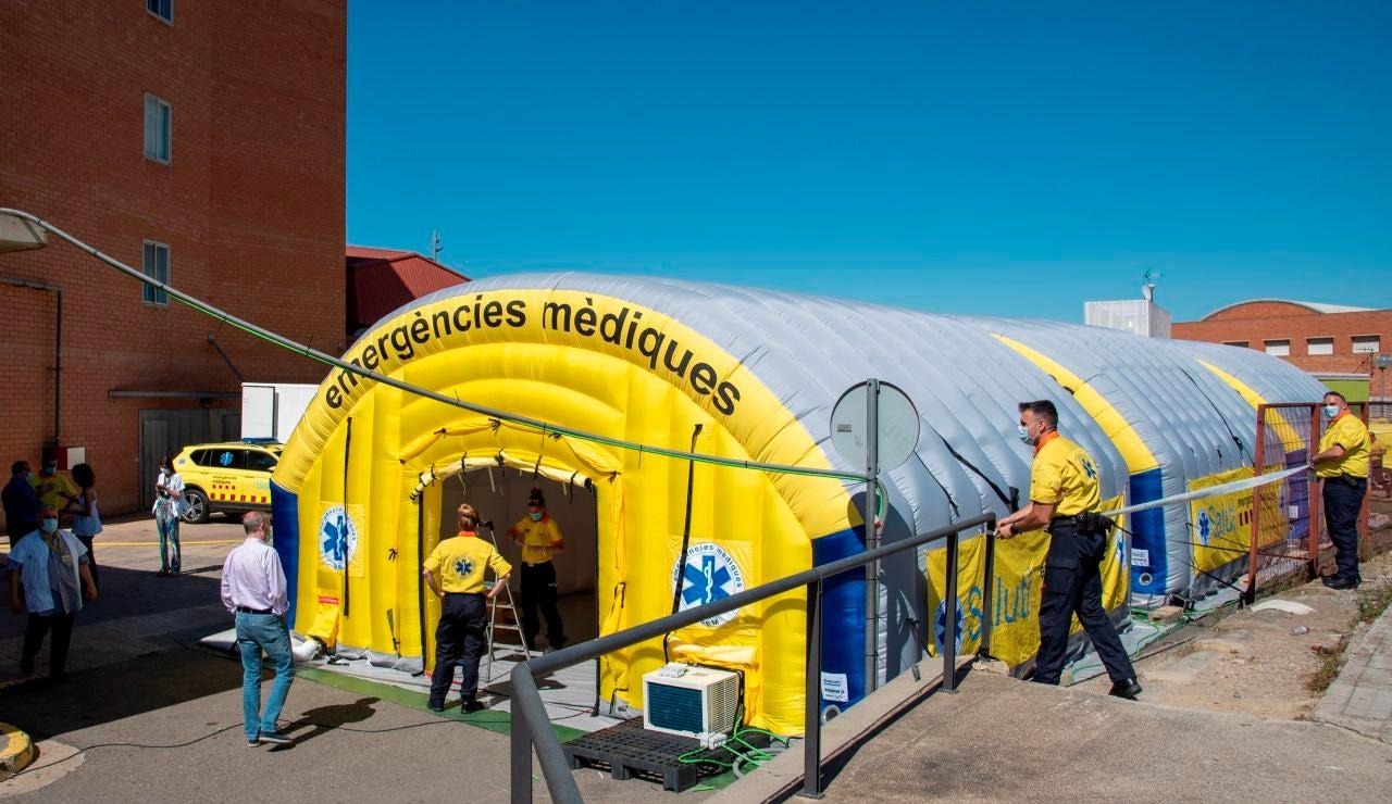 El Sistema de Emergencias Médicas (SEM) de la Generalitat de Cataluña ha instalado este viernes un hospital de campaña