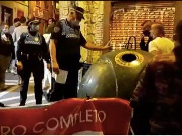 Control de aforo en Pamplona