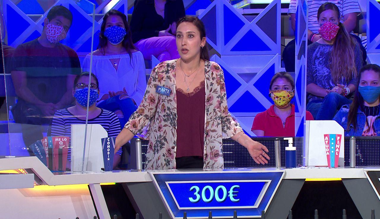 """El """"lapsus"""" que casi deja a Marta fuera de la gran final en 'La ruleta de la suerte'"""