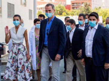 Los Reyes, en su visita a Murcia.