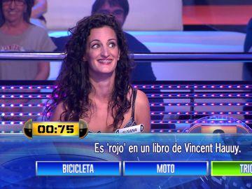 La increíble buena racha de Susana en la prueba de 'entre tres' que ha dejado boquiabierto a Arturo Valls