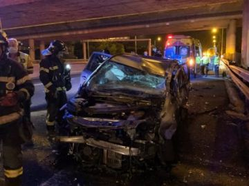 Imagen del accidente en la M-40