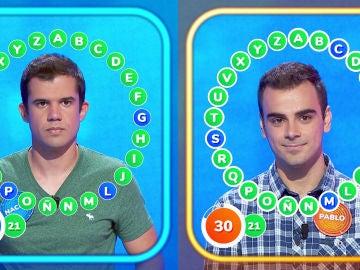 'Lelilí', la difícil respuesta que logra la victoria en un duelo muy reñido entre Nacho y Pablo en 'El Rosco'
