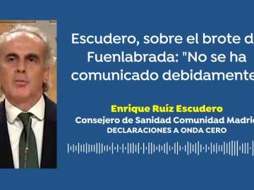 """Ruiz Escudero, sobre el brote de coronavirus del Fuenlabrada: """"No se ha comunicado debidamente"""""""