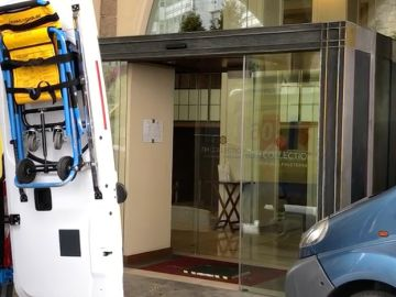 Entrada del hotel Finisterre, en A Coruña