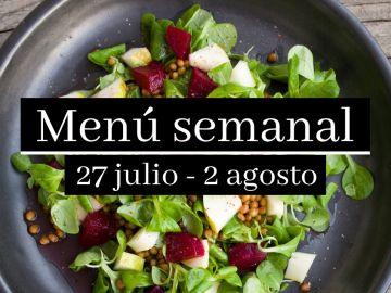 Menú semanal saludable 2020: Semana del 27 de julio al 2 de agosto