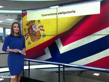 Noruega impondrá 10 días de cuarentena a los viajeros españoles