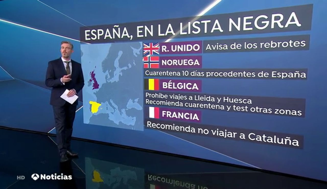 Bélgica prohíbe viajar a Lleida y Huesca y aconseja no ir a seis comunidades españolas