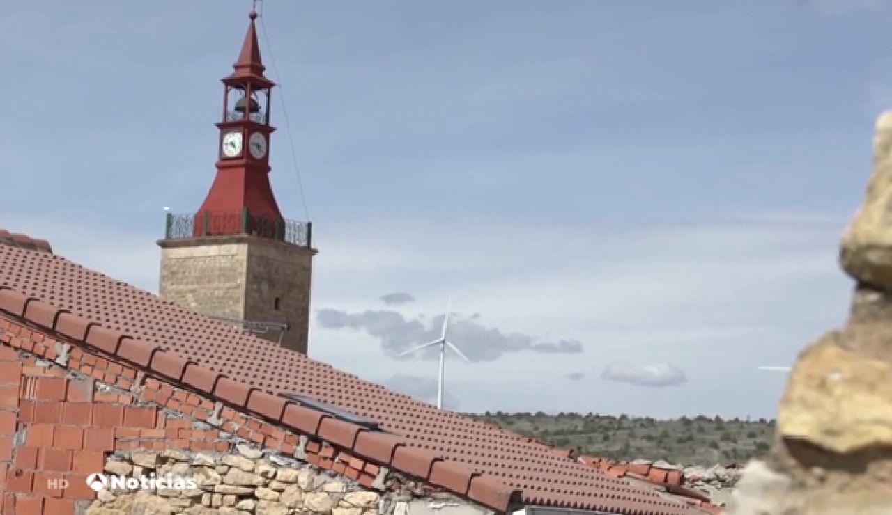 La energía eólica reactiva la economía Maranchón, uno de los pueblos de la España despoblada