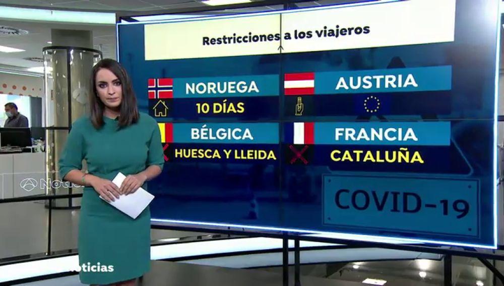 Estos son los países que tienen restricciones a los viajeros de España debido al coronavirus