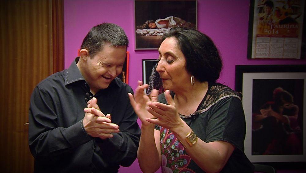 Luismi aprendiendo flamenco