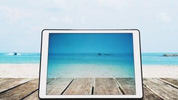 Conectados en la playa