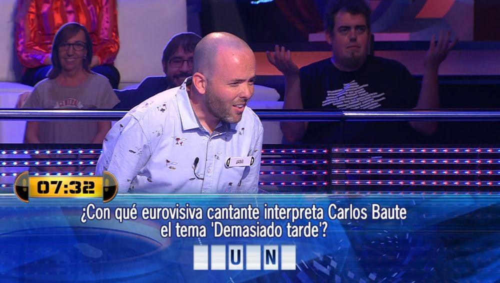 El fallo garrafal de Javi con una canción de Carlos Baute