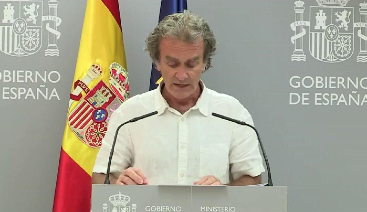 """Fernando Simón cree que es mejor que los ciudadanos de Bélgica no vengan a España porque es un """"riesgo que nos quitan"""""""