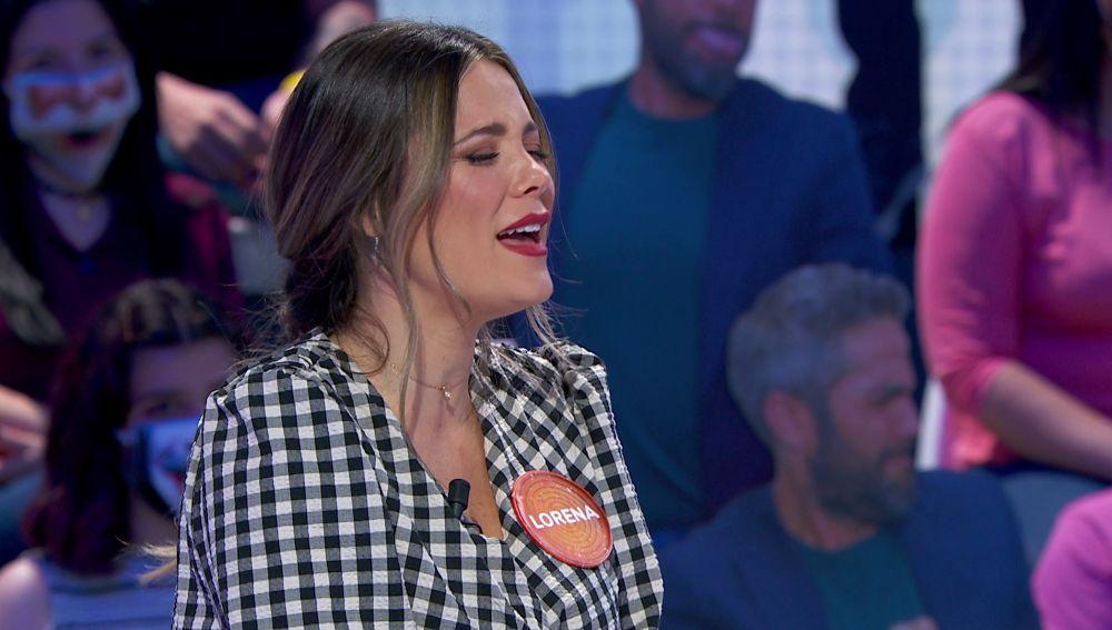 """Lorena García enamora cantándole """"a su peque"""" a capela en 'Pasapalabra'"""