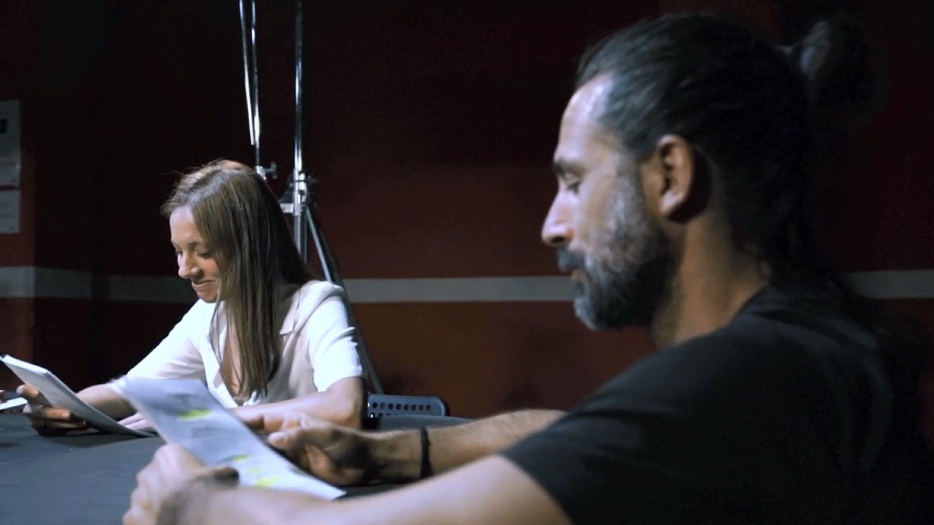 Michelle Jenner y Hugo Silva en el nuevo rodaje de 'Los hombres de Paco'