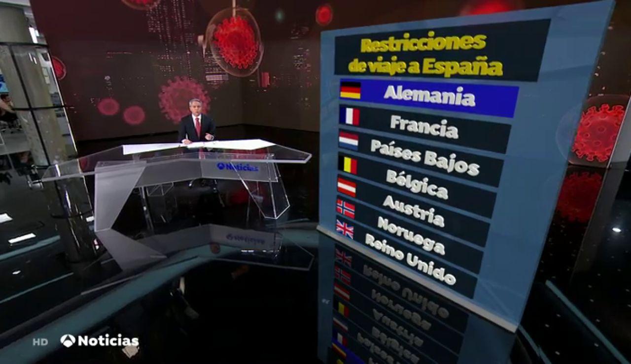 ¿Qué siete países europeos imponen alguna restricción por el coronavirus a los viajeros procedentes de España?