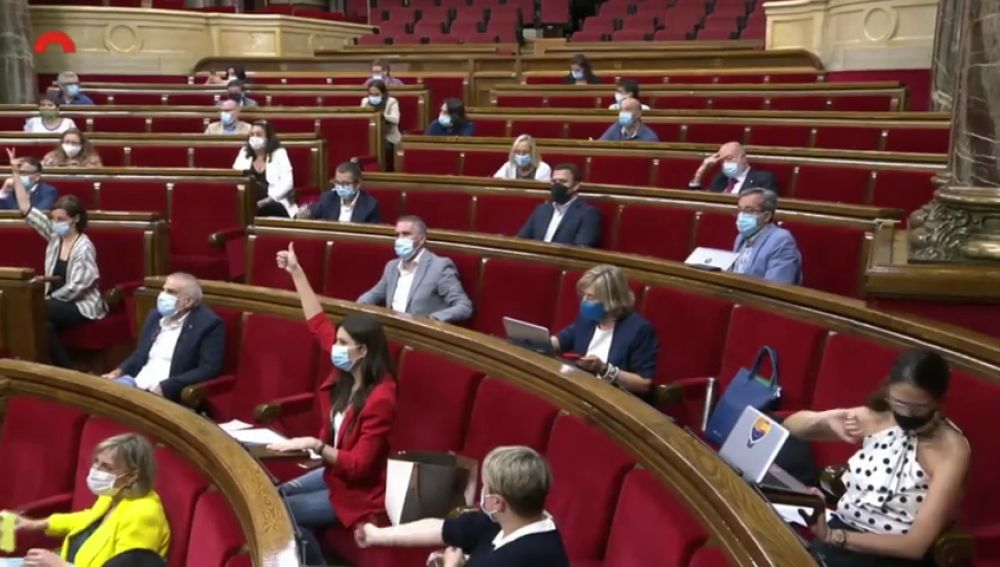Actividad telemática en el Parlament de Cataluña ante el positivo por coronavirus de una diputada