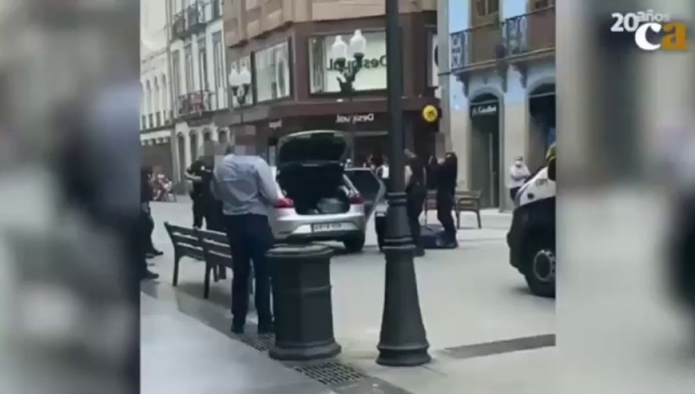 Detenido tras amenazar con una katana a varios peatones en Las Palmas de Gran Canaria