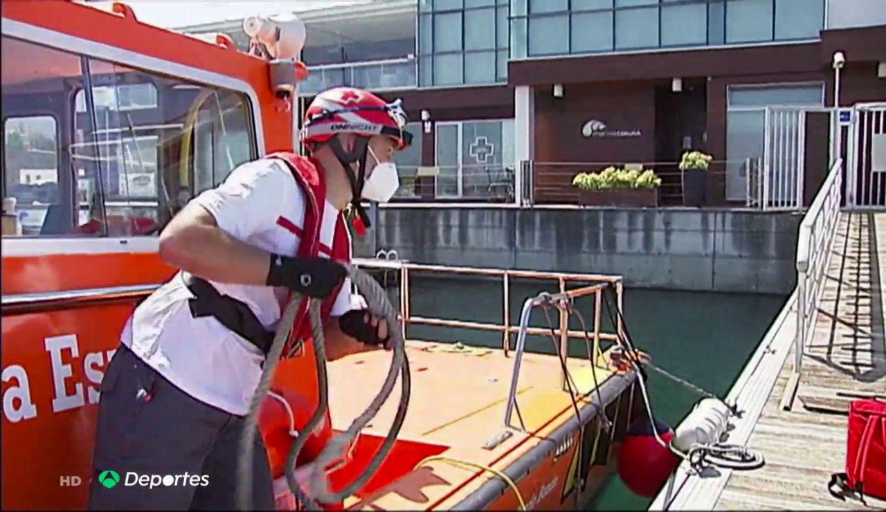"""Dani Mallo, de portero del Deportivo de la Coruña a salvar vidas en el mar: """"Siempre estamos preparados"""""""