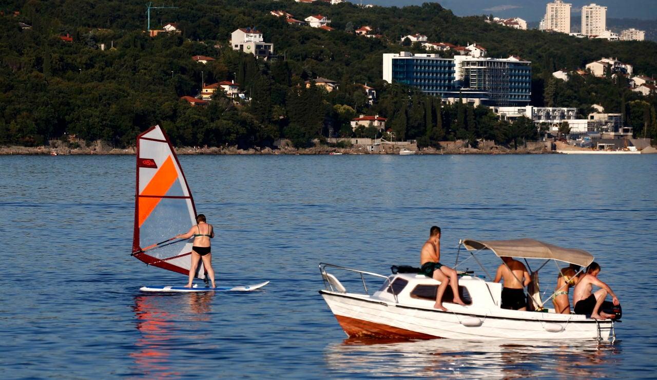 Turistas en Croacia
