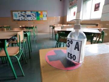 Detalle de un aula vacía.