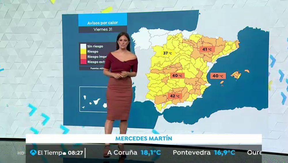 La ola de calor mantiene en alerta a 12 comunidades