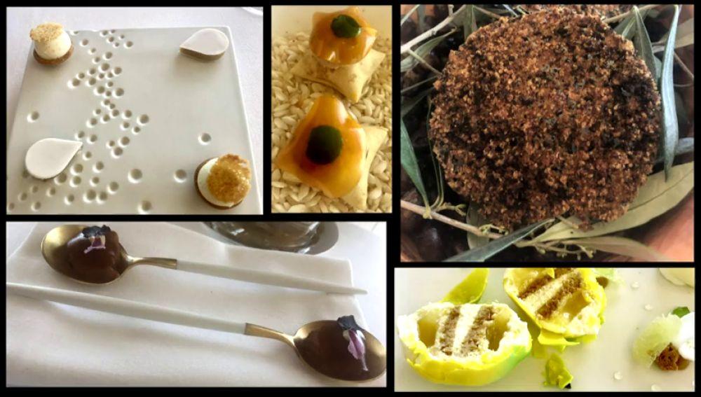 La cocina francesa su elegante repostería en el restaurante La Chevre d'Or