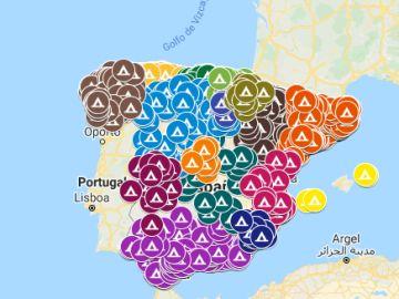 Mapa camping